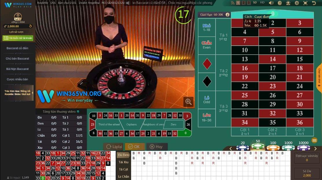 Win365 casino - Roulette