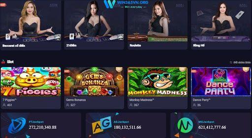 Các trò chơi khi tải app tại win365