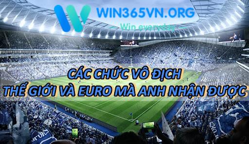 Các chức vô địch thế giới và Euro mà Anh nhận được